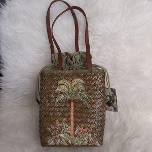 Cappelli Straworld Vintage Palm Tree Handbag NWT